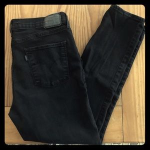 Levi's 311 Shaping Skinny Black Jeans Sz 32 Short